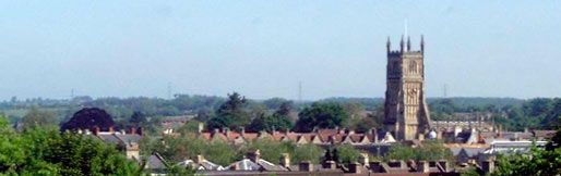 A view of the Cirencester skyline